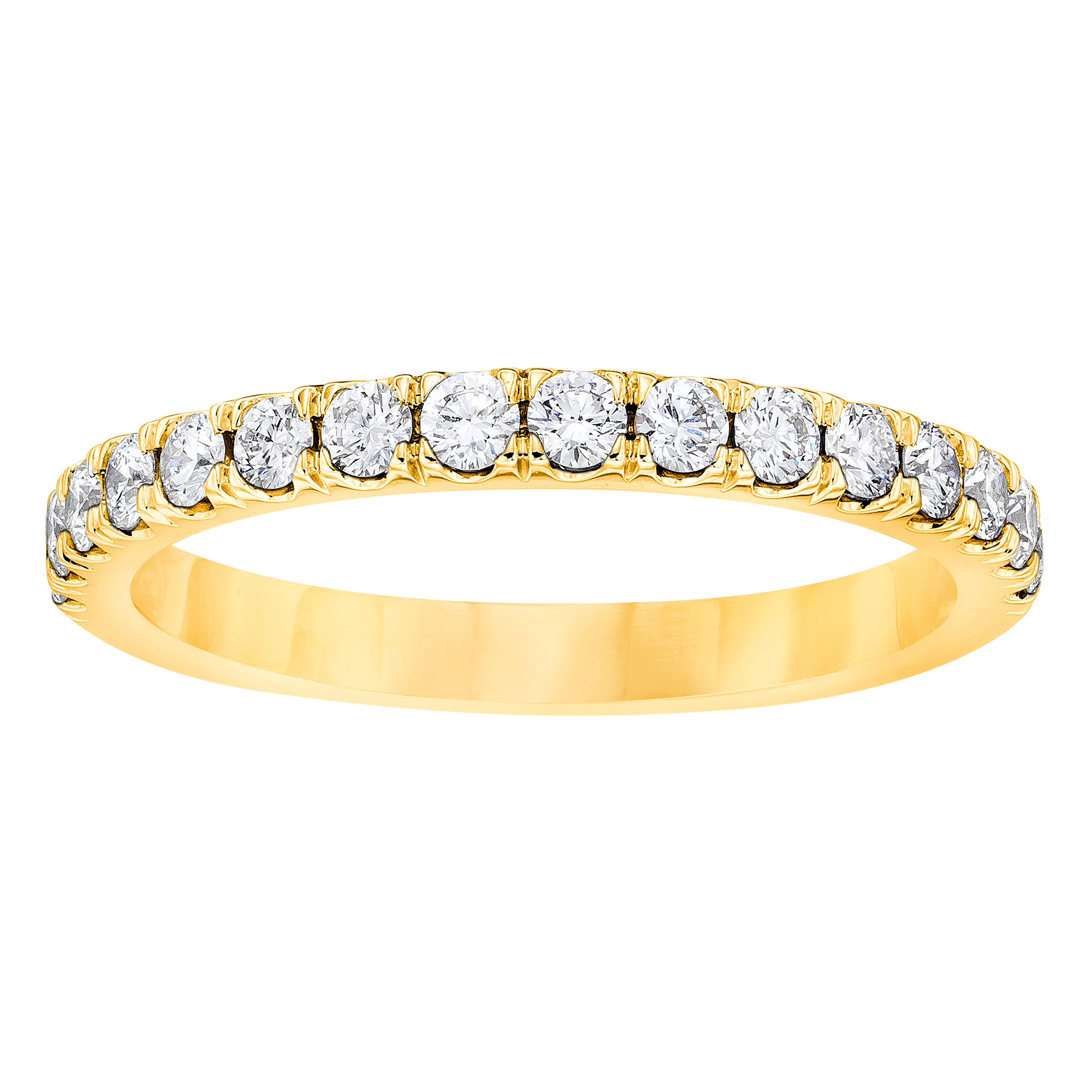 Four-Prong-Eternity-Ring-in-Yellow-Gold