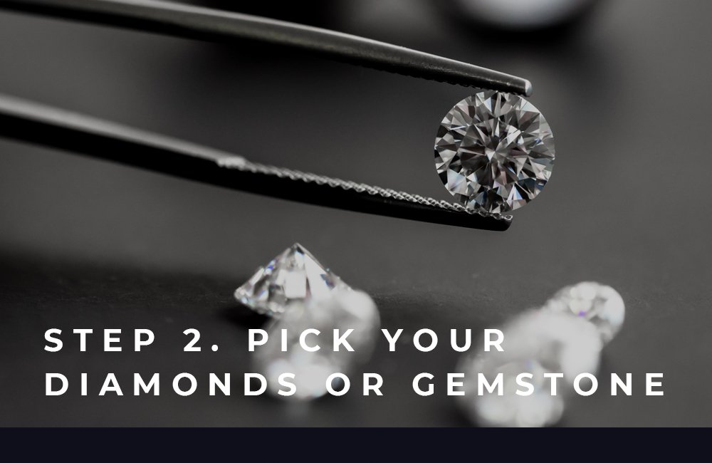 Side Image | Step 2 Pick Your Diamond or Gemstone